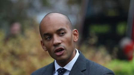 Chuka Umunna speaking to reporters on College Green in Westminster, London. (Steve Parsons/PA)