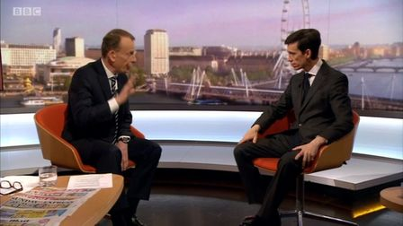 Tory hopeful Rory Stewart on the Andrew Marr show on Sunday, June 16: Picture: BBC