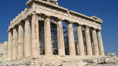 The Parthenon, at The Acropolis in Greece. Peter Trudgill says we have the Ancient Greek language to thank for almost all...