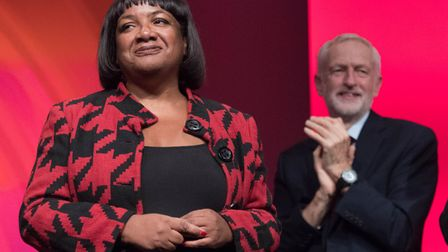 Diane Abbott after addressing the Labour Party's annual conference. Photograph: Stefan Rousseau/PA.