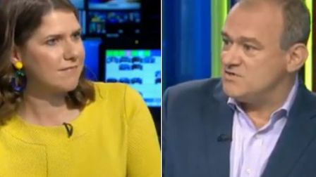 Jo Swinson and Ed Davey. Photograph: Sky News.