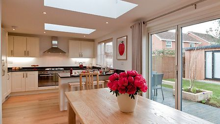The spacious new kitchen-diner.
