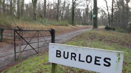The horses and hounds were spotted near Burloes farm