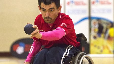 AIMING FOR RIO: Alcombury Boccia player Paul Akers is being lined up for the British Paralympic team