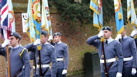 Bassingbourn air cadets during the ATC parade