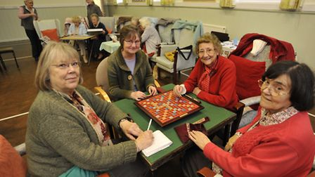 West Hunts Friendship Club, at Great Staughton Village Hall, need help with funding. (l-r) Elsa Unw