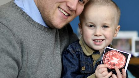 Huntingdon Cavernoma Sufferer Zane Smith, with his dad Lee Smith