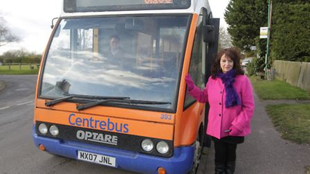 90/91 bus route is being axed between Royston and Ashwell. Pictured is Yvonne Young with one of the