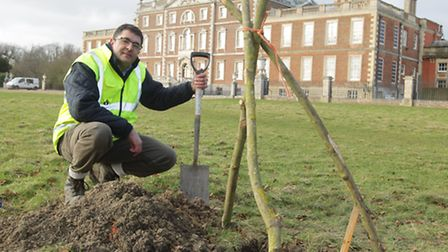 Archeologists looking for evidence of ancient village buried under Wimpole Hall. Pictured is Stephen