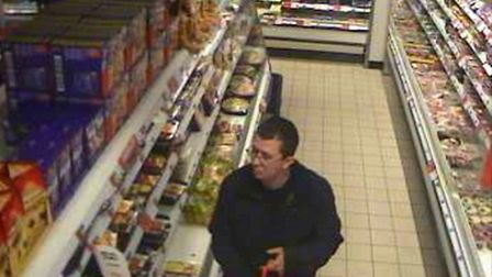 Police are keen to speak to this man in relation to a series of meat thefts at a petrol station