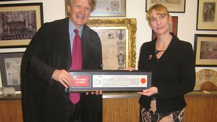 Freedom of City of London awarded to former St Albans woman, Louise Hardy, pictured here with Murray
