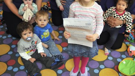 Butterfly House Day Nursery, Great Paxton, has been given a good Ofsted after new owner (back centr