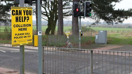 Site of accident on Shenley Road, London Colney
