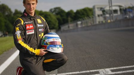 ON TRACK: Ash Miller at Brands Hatch where he soon hopes to be racing. Picture: Nick Dungan.