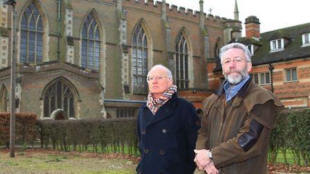 Chairman of London Colney Parish Council Ian Orton and Councillor Chris Brazier in front of the All