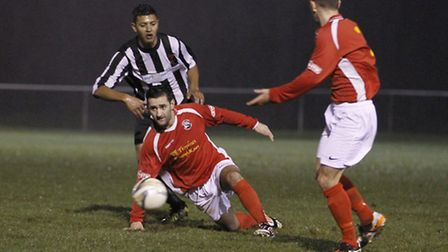 Keen Fehmi in action for Royston. Photo: Kev Richards