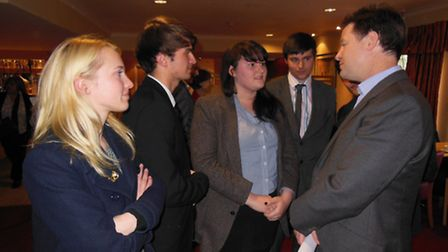 St Albans Youth Council meets Deputy Prime Minister Nick Clegg