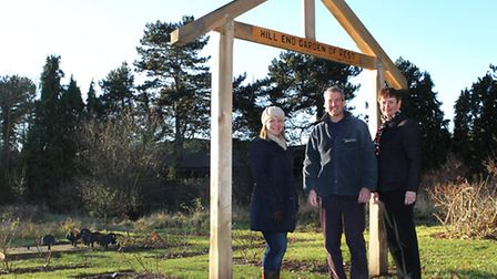 Sue Back, Richard Bull and Sue Gaylard of the Highfield park trust at the Highfield Park Garden of R