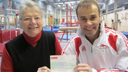 Angela Owen Smith, chairman of Huntingdon Town Partnership until 2012, and Paul Hall , coach at Hunt