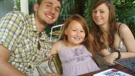 Sam McCord with his sister, Cassie, pictured right, with their cousin Eleanor in the centre.