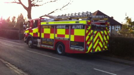 Fire crews at the house on Mile House Lane