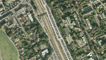 Harpenden Station from the air