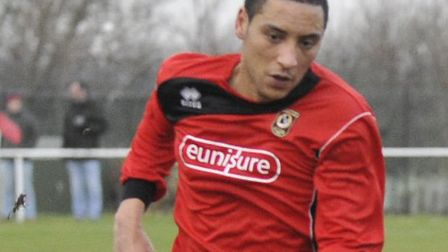 GREAT SIGNING: Striker Jamie Graham has been excellent since joining Huntingdon Town. Picture: Helen