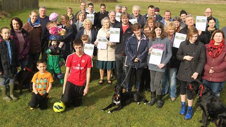 Villages want to get land near Windmill close registered as a village green. Land is owned by NHDC a