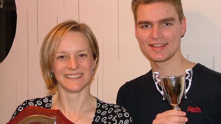 Emma Shaw and Nicky Paton with their awards
