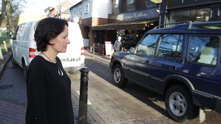 Lara Wares of Threads pictured watching the traffic