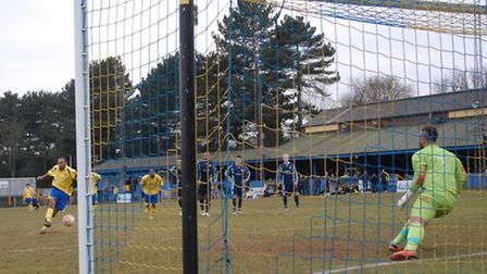 Jack Giddens saves James Comley's injury time penalty.