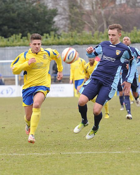 Josh Urqhart in action against St Neots.