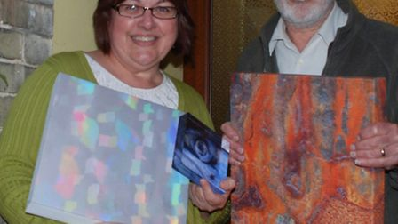Sue and Terry Hartga with some of their work
