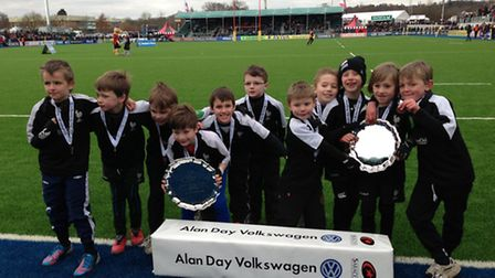 Harpenden Rugby Club's under-seven boys won the Alan Day Cup.