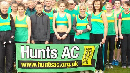 WINNING TEAM: Some of Huntingdonshire Athletics Club's Frostbite winning team, full photo is in this