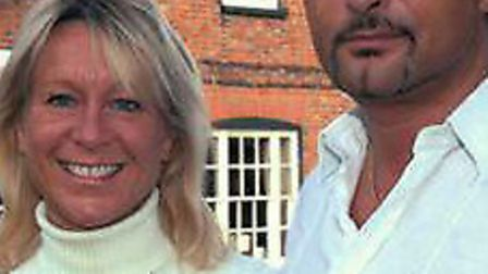 Claire Stanley with her husband Darrell Stanley outside The Three Tuns Hotel, which they owned until