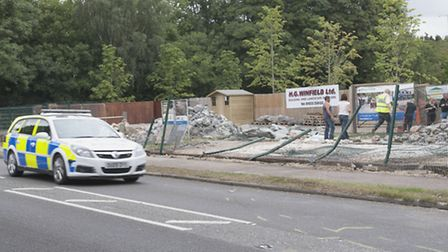 The scene of a car crash where William Mackenzie died after crashing into a fence in his Pagani Zond