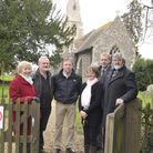 Grafham Church given £117k by English Heritage for building improvements, the SAS team (l-r) Hazel