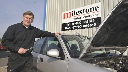 Milestone Motors moves to Huntingdon, owner Charlie Potter in his temporary accomadation
