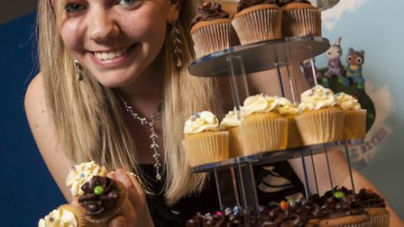 flare 2012 winner Lucy Clark who won £10,000 to fund her cupcake business © Pete Stevens 2012