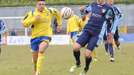 Josh Urquhart in action against St Neots.