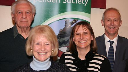 L-R Eric Midwinter, Harpenden Society, county councillor Teresa Heritage, Gerry Moir and David Law