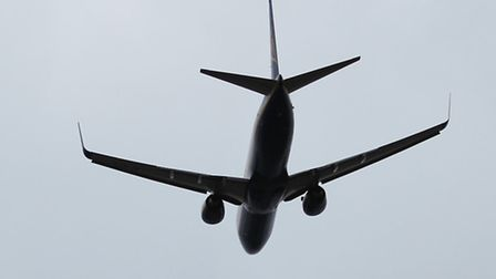 A plane takes off from Luton Airport