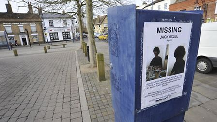 Missing posters in St Neots for Jack Oxlee