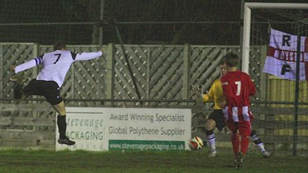 Ross Collins scoring. Picture by Kevin Richards