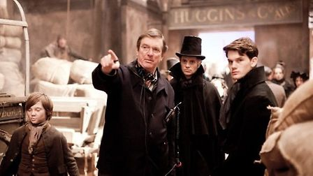 Mike Newell on the set of Great Expectations