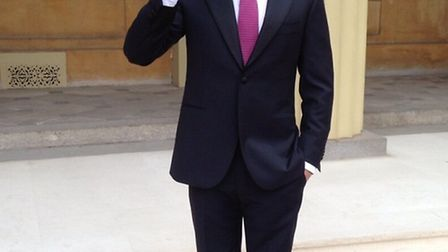 Louis Smith tweeted this picture of himself at Buckingham Palace