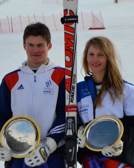 Max Baggio, left, and Darcie Mead will compete at the European Youth Olympic Winter Festival in Roma