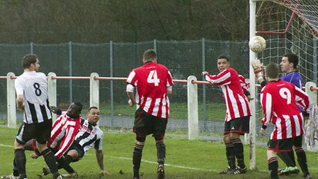 GOING IN: Dom Lawless scores on of his goals for St Ives on Saturday. Picture: Louise Thompson.