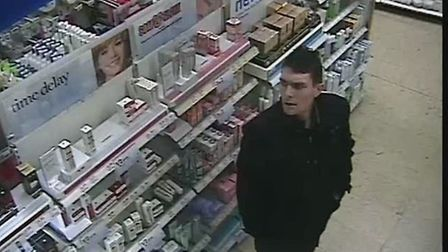 Police want to trace this man in connection with a £400 theft from Boots